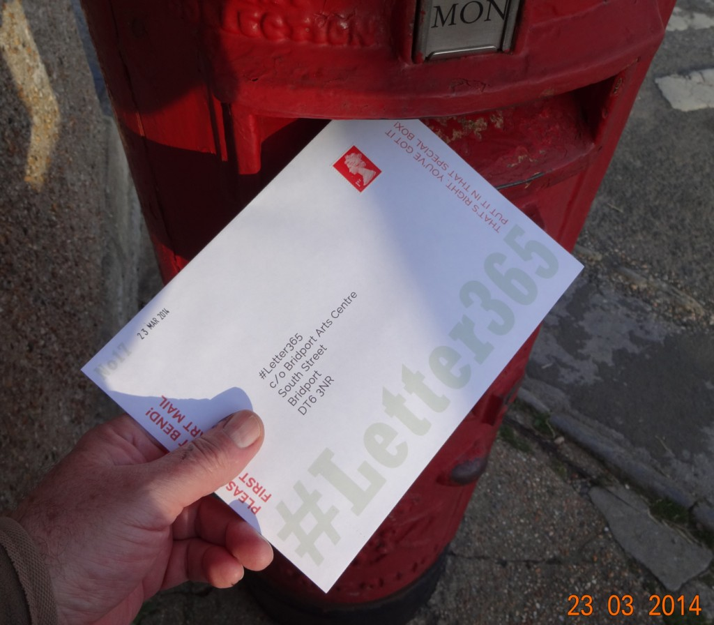 #Letter365 No17 gets posted on a sunny Sunday evening