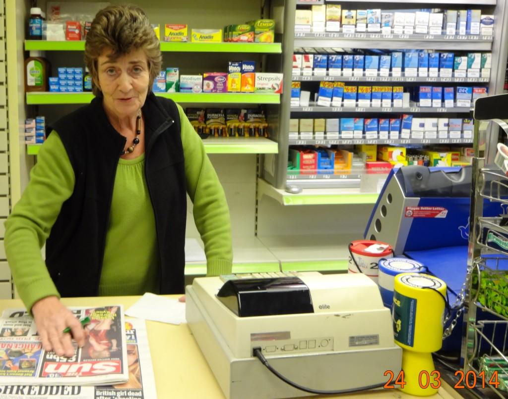 Ann in the shop
