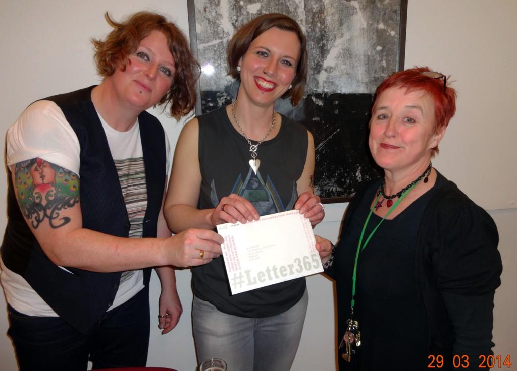 Belinda & Heidi deliver #Letter365 No23 to Jill Beed