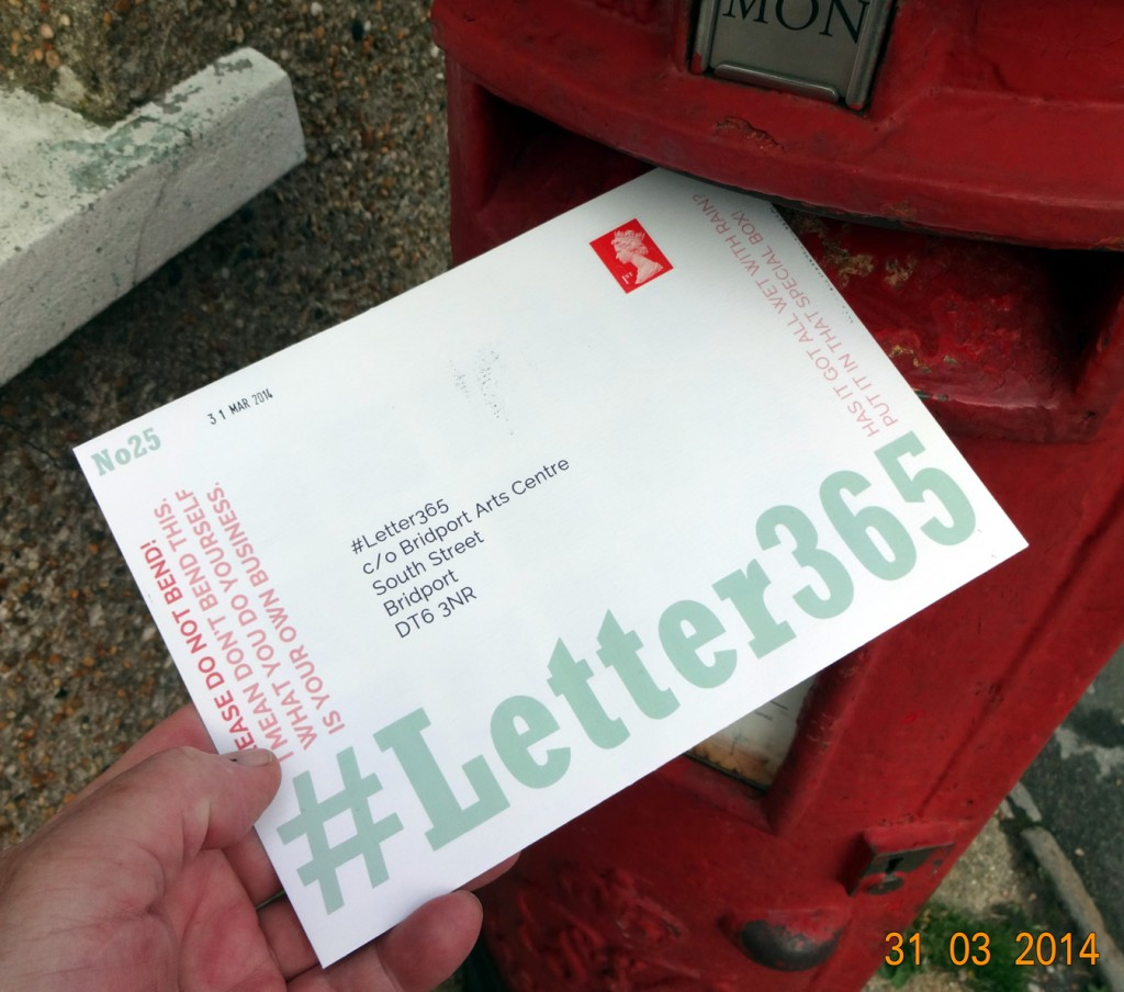 #Letter365 No25 goes in the box