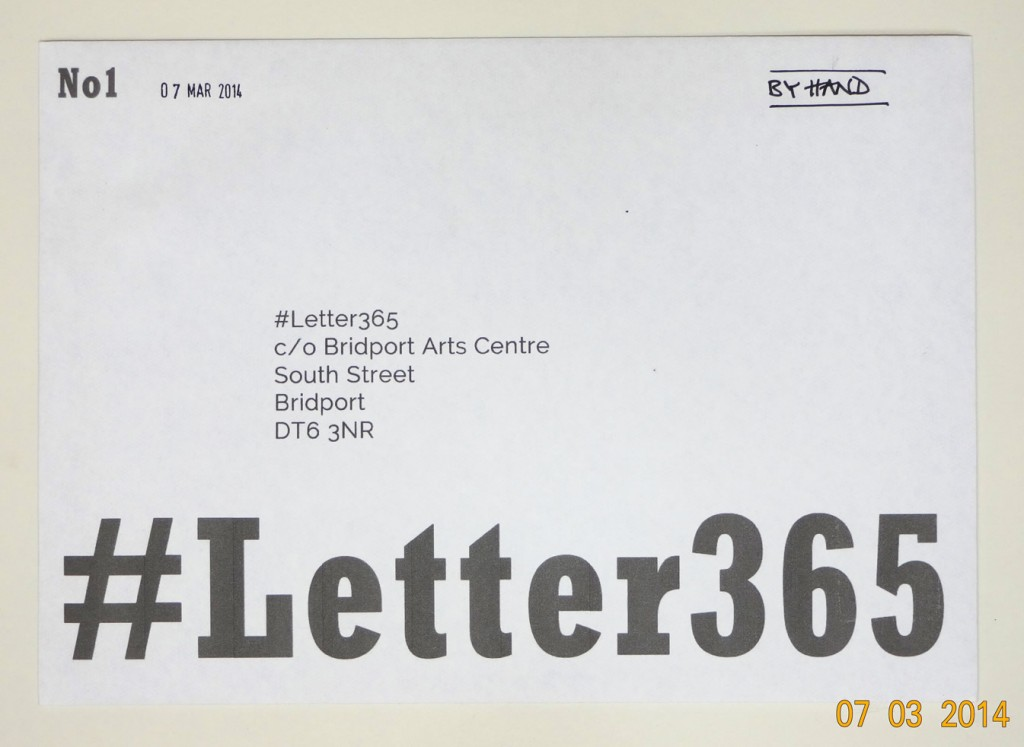 The first #Letter365 envelope ready to go