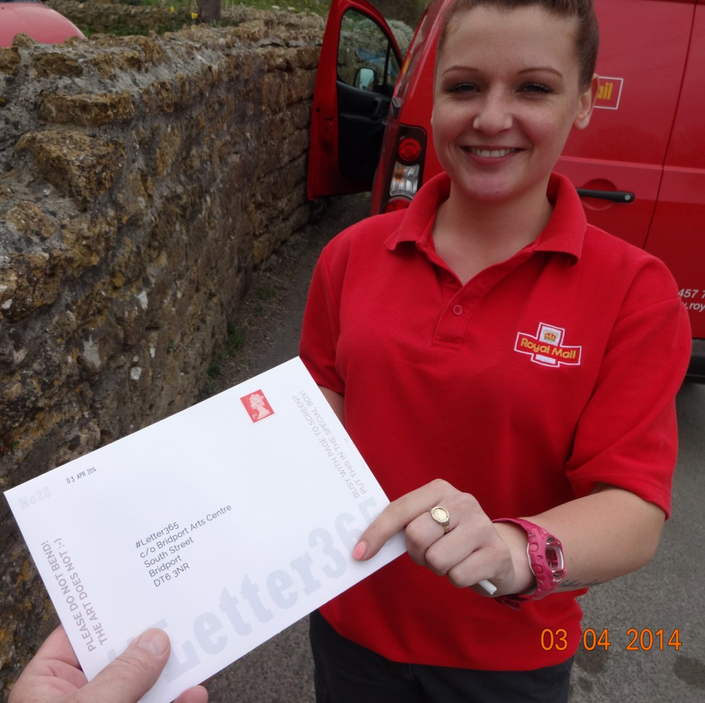 #Letter365 No28 gets handed to a friendly, smiling postie