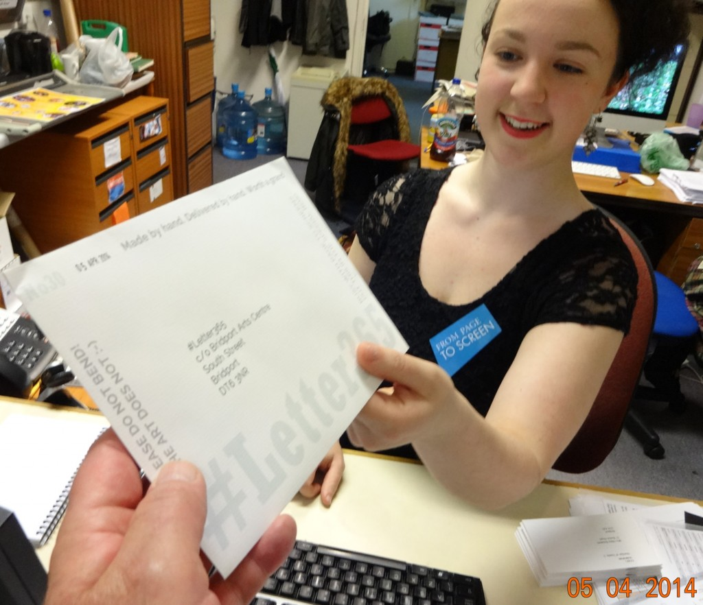 Amelie accepts #Letter365 No30 at the film festival