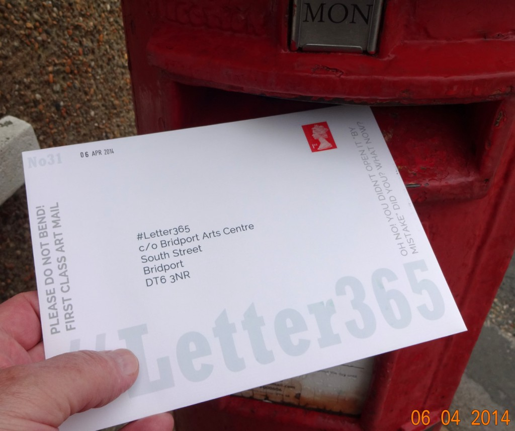 #Letter365 No31 goes in the box on a drear and drizzly day