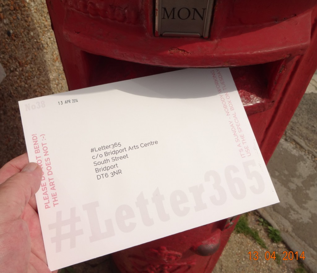 #Letter365 No38 goes in the post with no stamp!