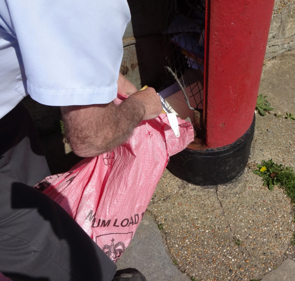 Post box being emptied