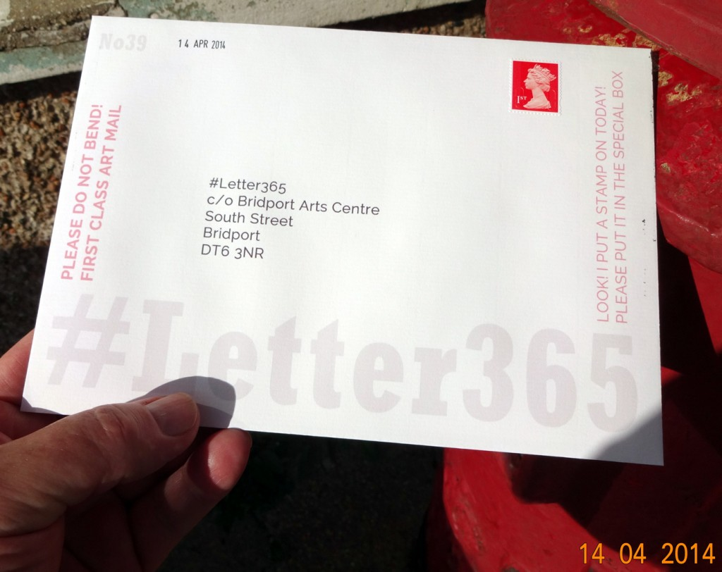 #Letter365 No39 gets posted in strong sunlight