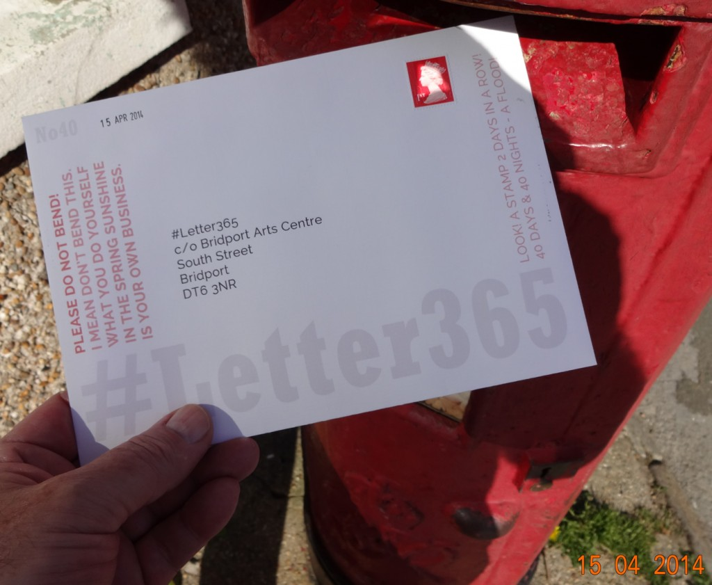 #Letter365 No40 gets posted with a stamp