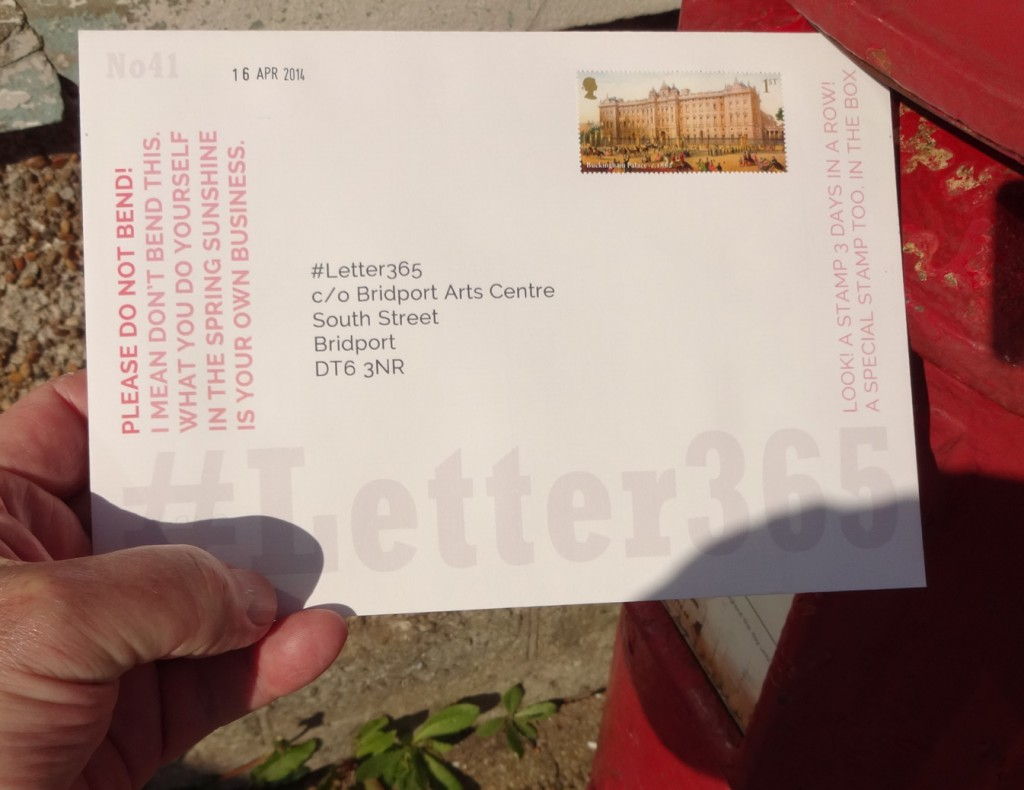 #Letter365 No41 gets posted in bright Spring sunshine