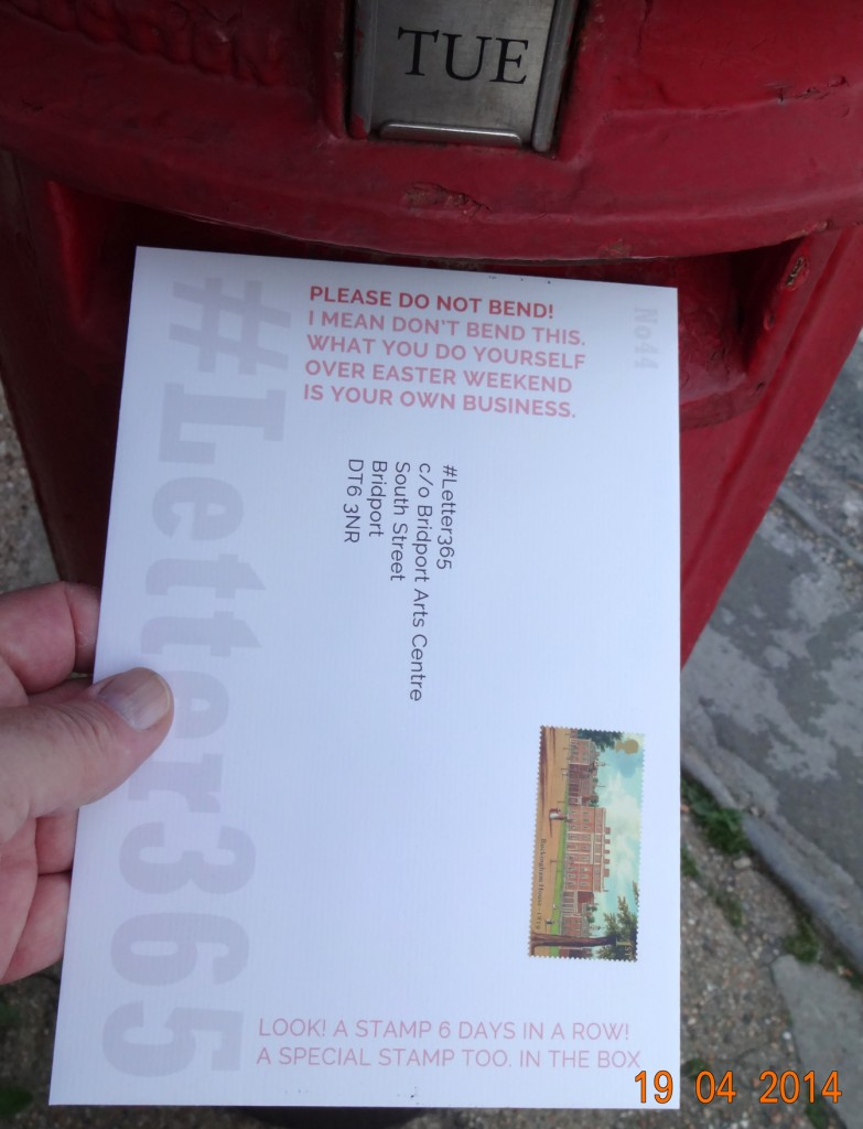 #Letter No44 goes in the post box as light is fading