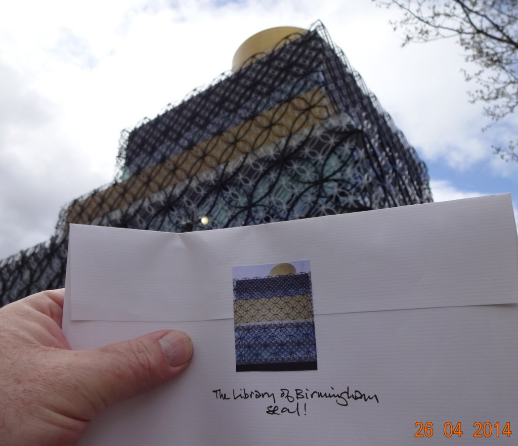 #Letter365 No51 displaying its custom Library of Birmingham with the iconic buidling itself as a backdrop