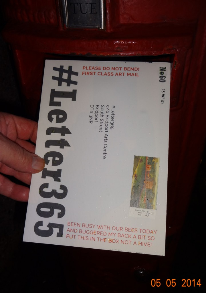 #Letter365 No60 gets posted in the rain and dark