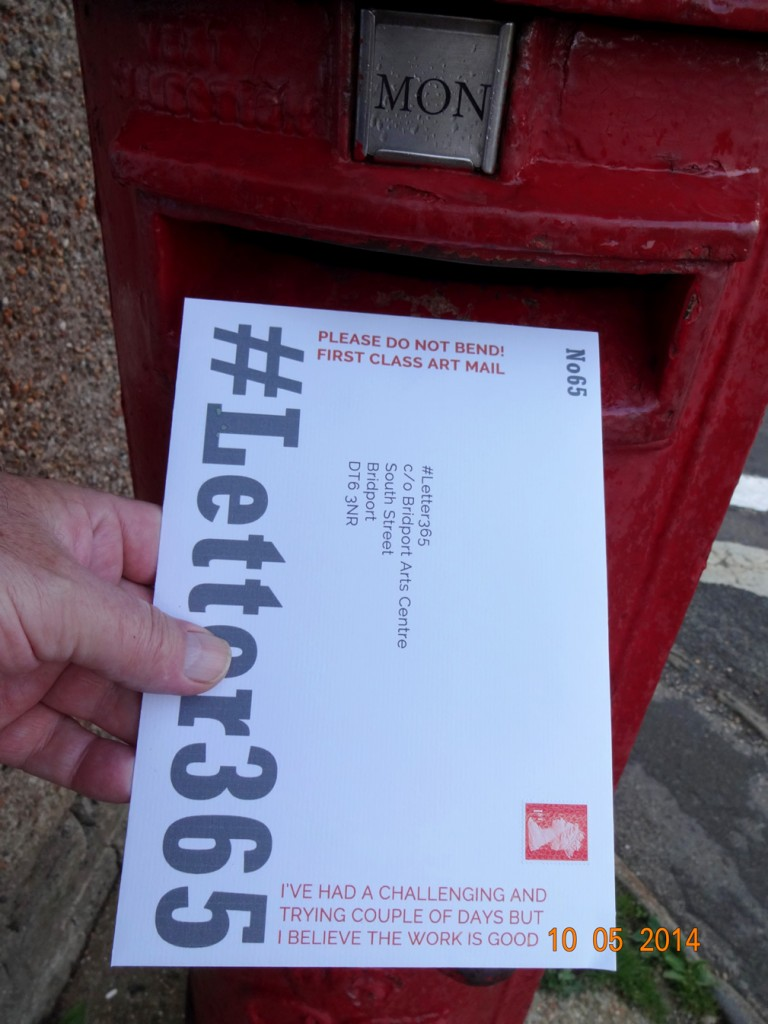 #Letter365 No65 goes in the post box in drizzle
