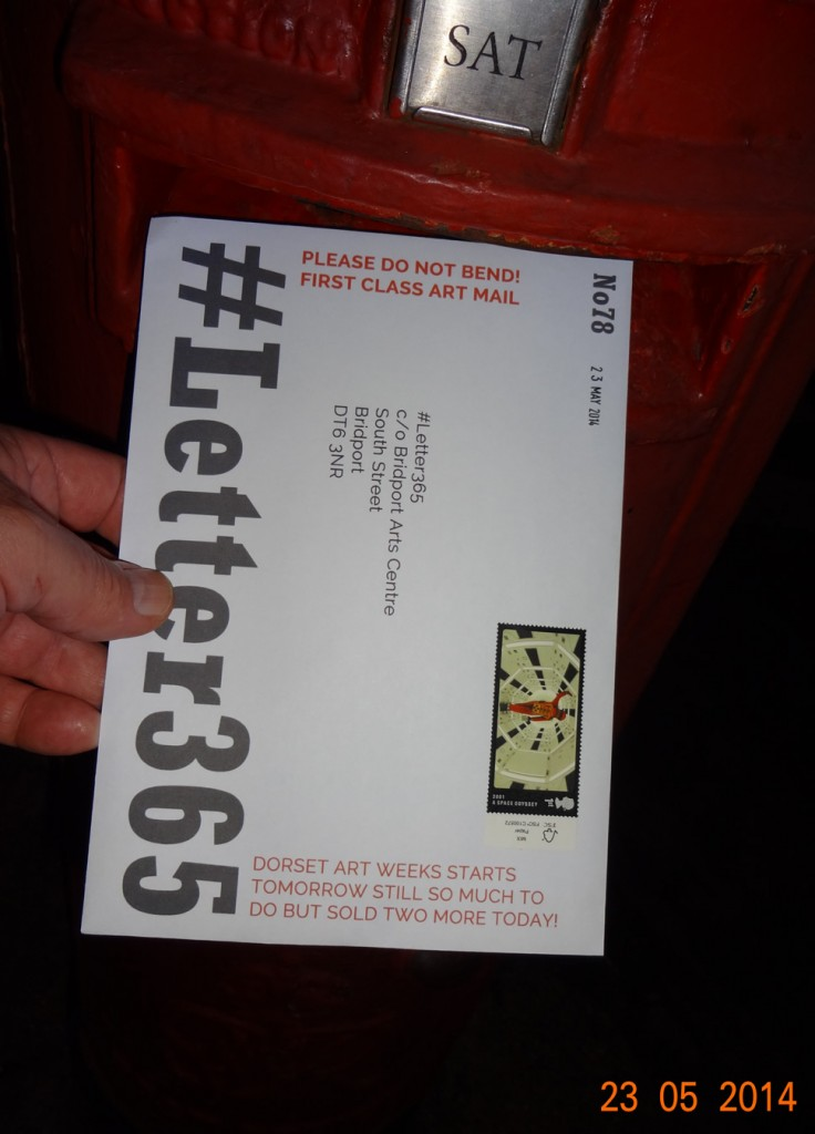 #Letter365 No78 goes in the box late at night