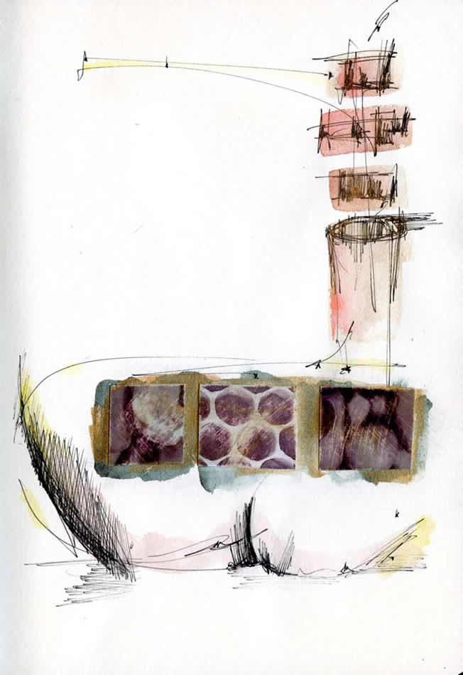 Sketchbook abstract drawing by David Smith