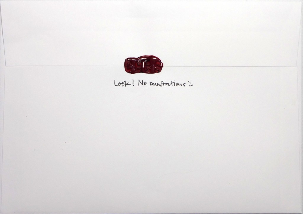 The back of No89's envelope