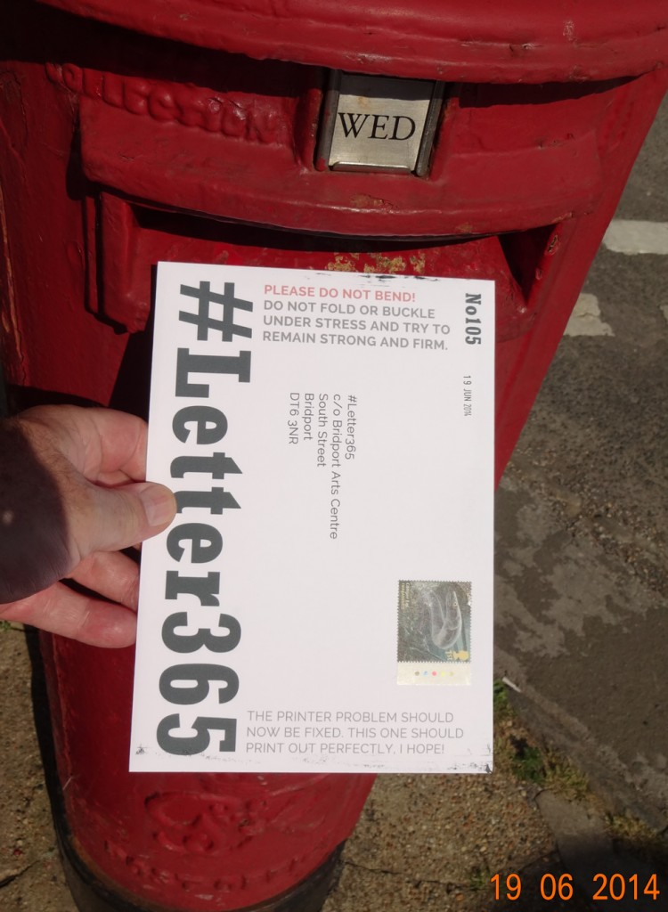 #Letter365 No105 gets posted