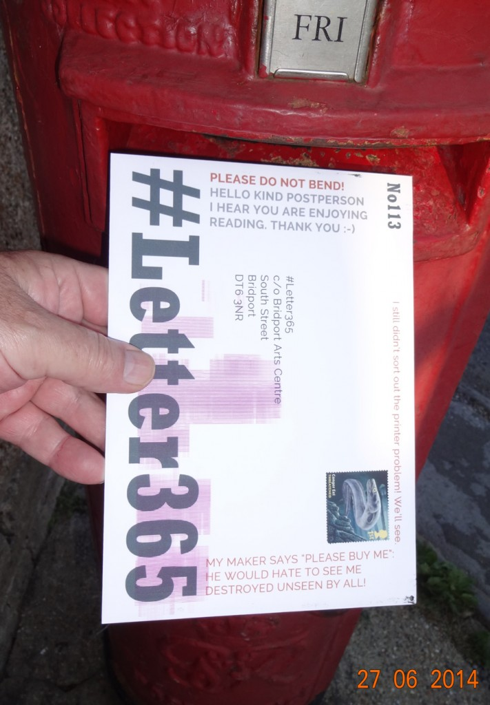 #Letter365 No113 bears a message to the posties