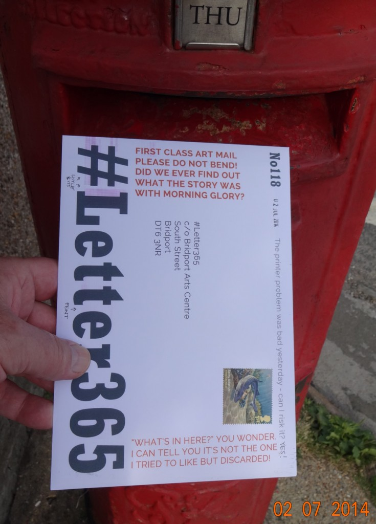 #Letter365 No118 goes in the box