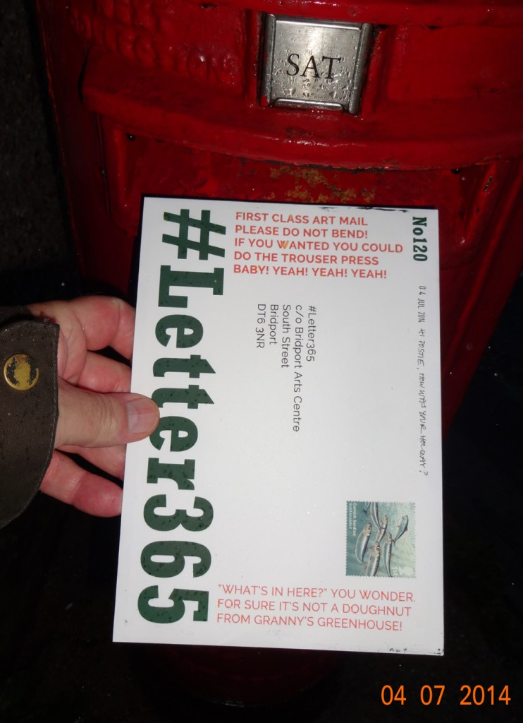 #Letter365 No120 goes in the box in the rain
