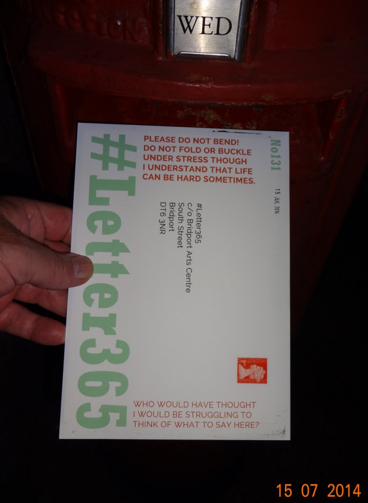 #Letter365 No131 goes in the box free of annotations