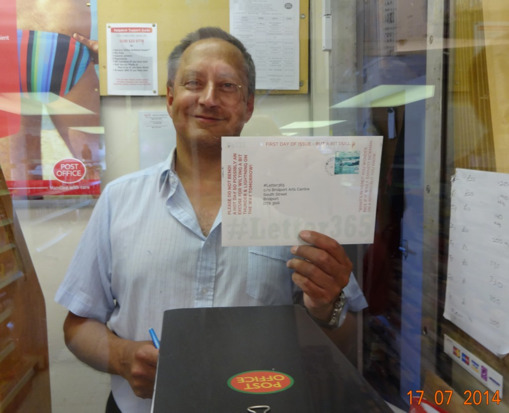 Peter the postmaster displays #Letter365 No133