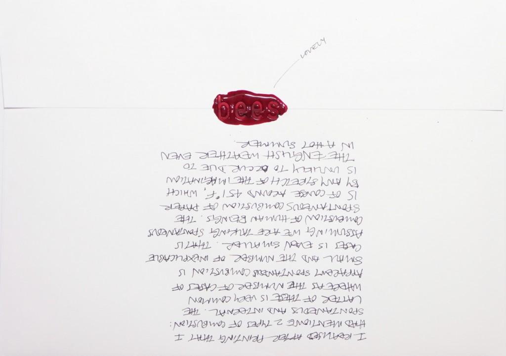 Back of #Letter365 No137