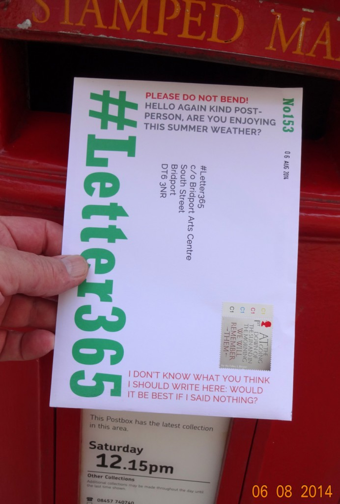 #Letter365 No153 gets posted in Bridport