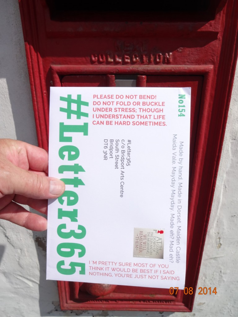 #Letter365 No154 gets posted in bright sunshine