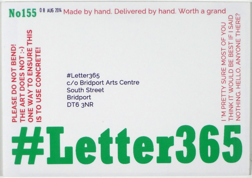 Front of #Letter365 No155's envelope