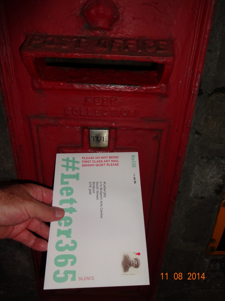 #Letter365 No158 goes in the post box