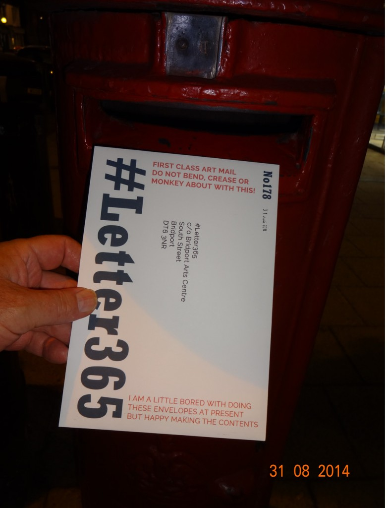 #Letter365 No178 goes in the box