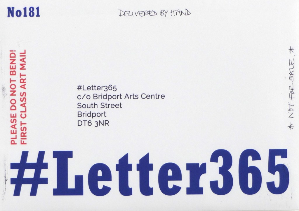 #Letter365 No181 was delivered by hand