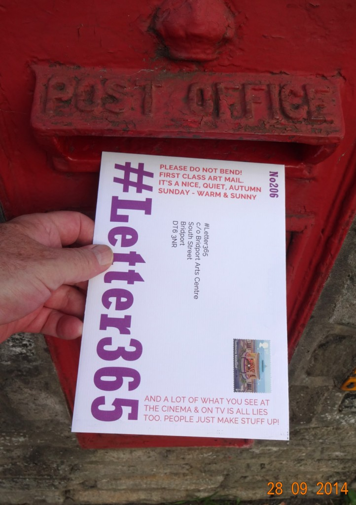 #Letter365 No206 goes in the post