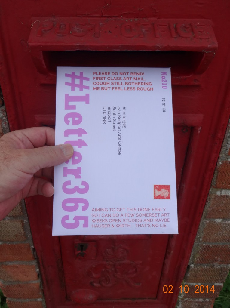 #Letter365 No210 goes in the box
