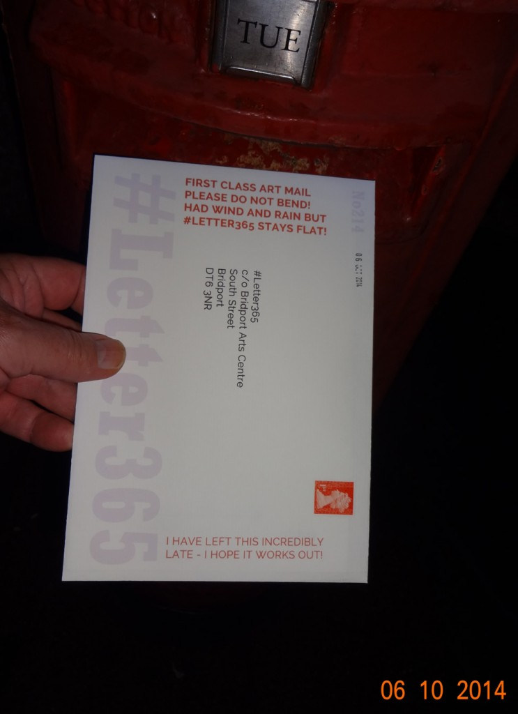 #Letter365 No214 gets posted close to deadline at Bradpole