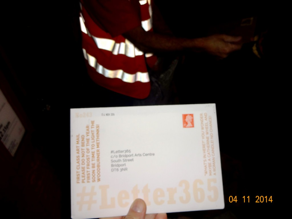 #Letter365 No243 gets taken by a glowing postie
