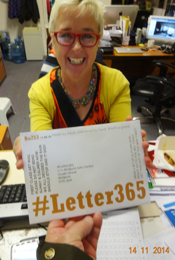 Jill Beed takes delivery of #Letter365 No253 at the box office
