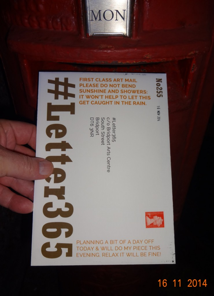 #Letter365 No255 goes in the box