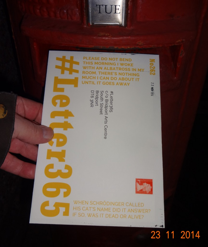 #Letter365 No262 goes in the box