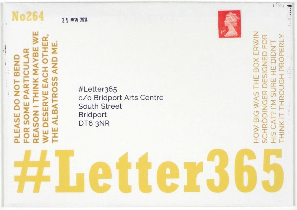 Envelope of #Letter365 No264