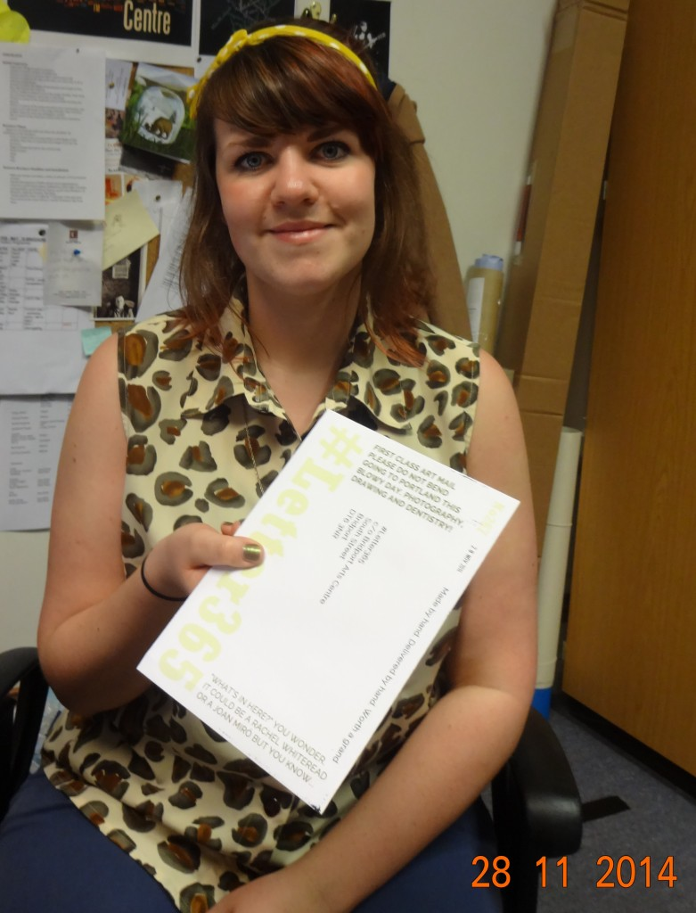 Megan Dunford tales delivery of #Letter365 No267