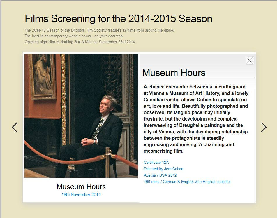 """Information about """"Museum Hours"""""""