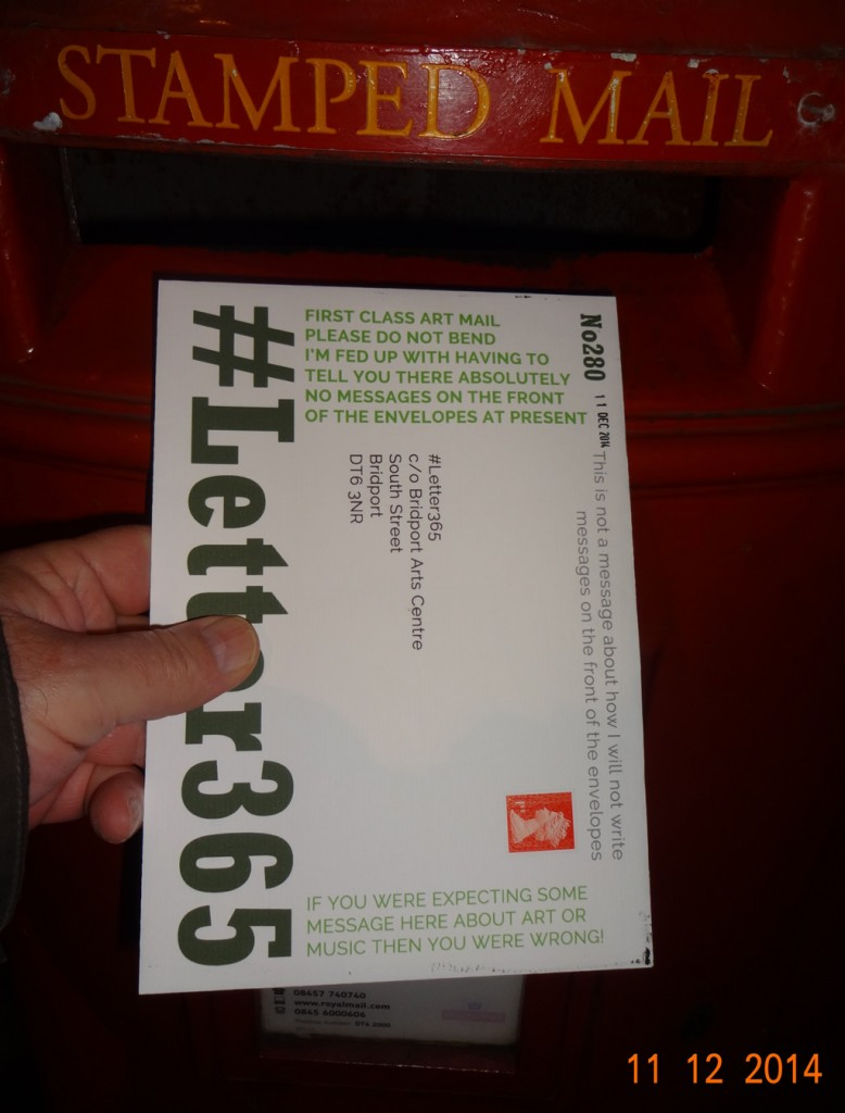 #Letter365 No280 goes in the box