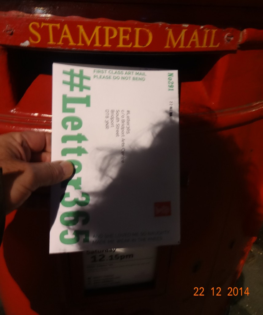 Shaggy shadow on #Letter365 No291 as it goes in the box