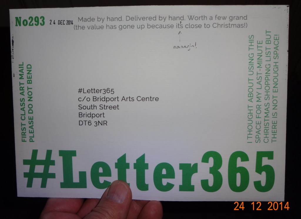 Front of #Letter365 No293's envelope