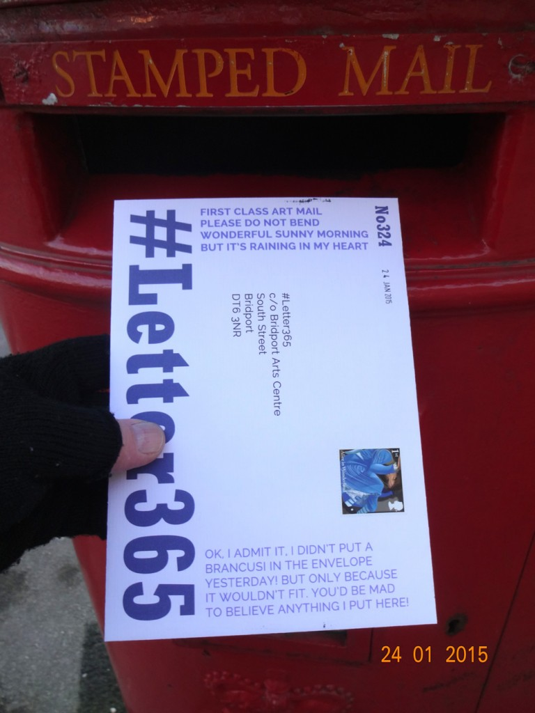 #Letter365 No324 goes in the post box