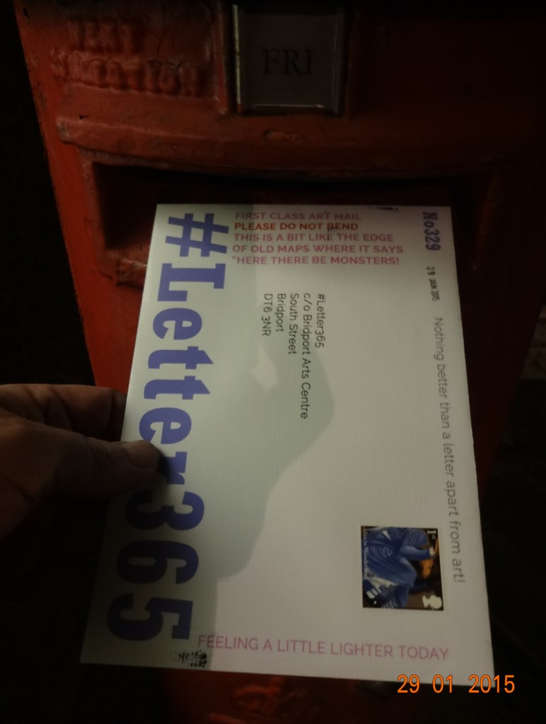 #Letter365 No329 goes in the box in a moody light