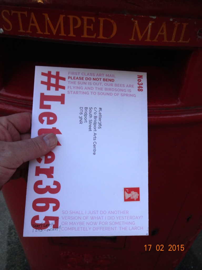 #Letter365 No348 gets popped in the post