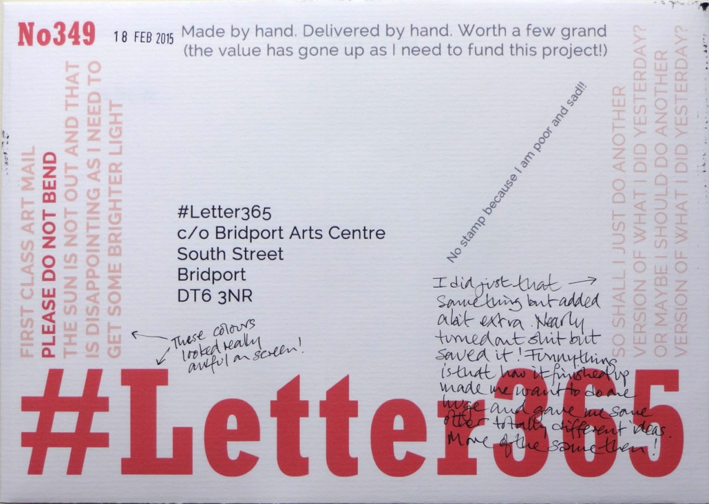 The front of the envelope of No346